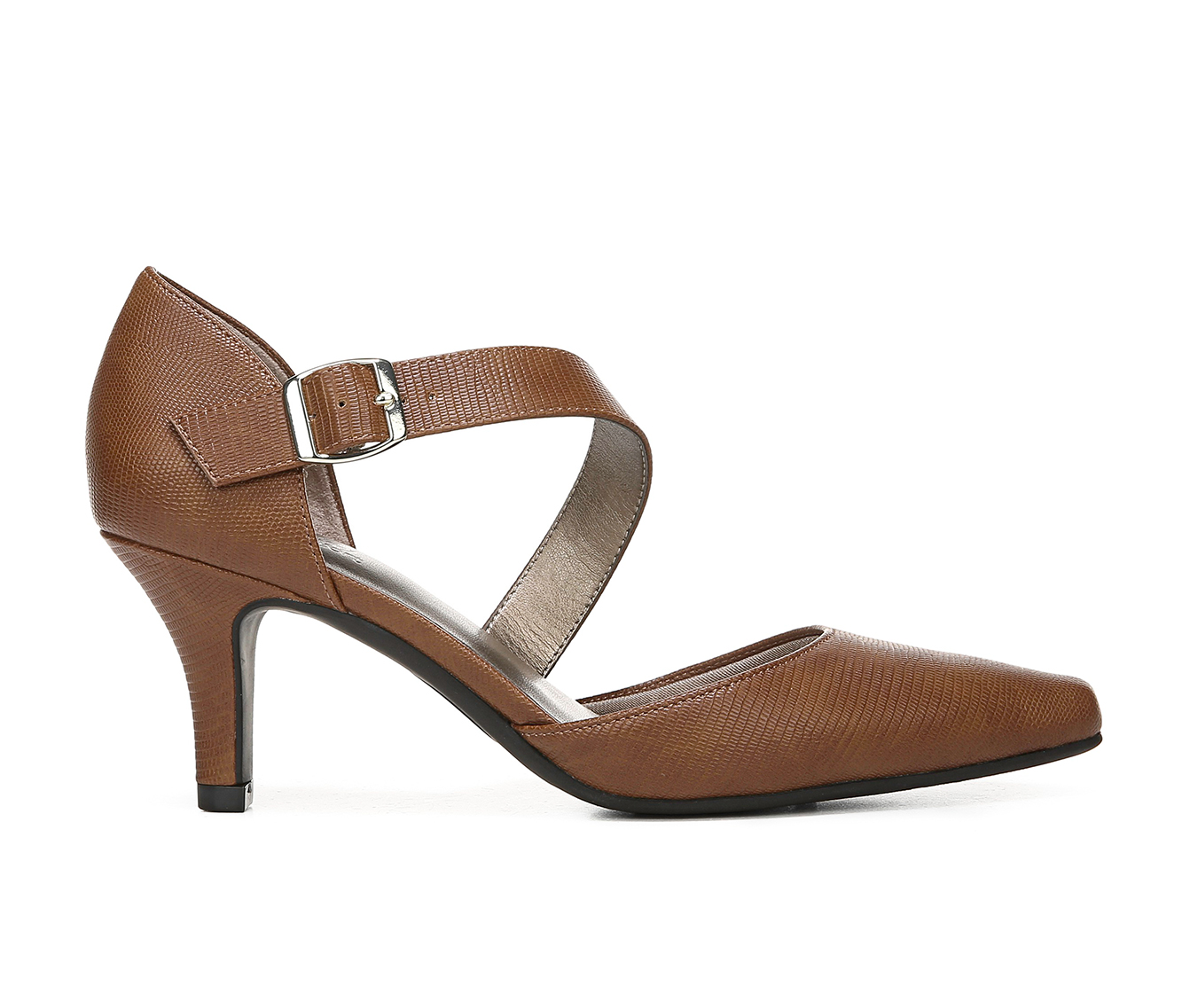 LifeStride Kamala Women's Dress Shoe (Brown Faux Leather)