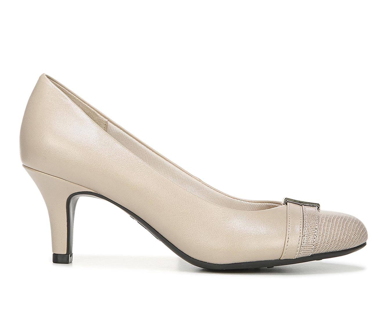 LifeStride Paisley Women's Dress Shoe (Beige Faux Leather)