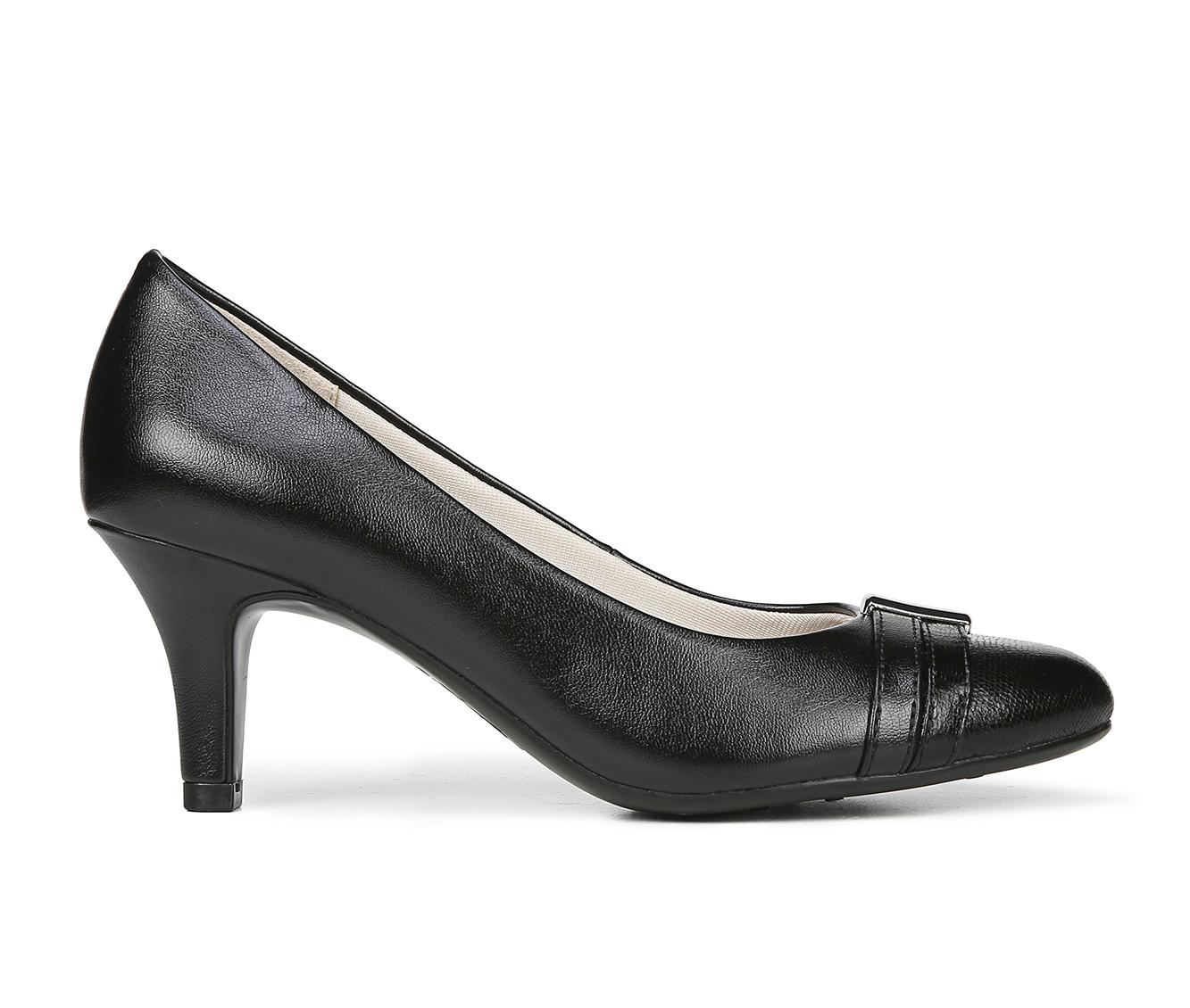 LifeStride Paisley Women's Dress Shoe (Black Faux Leather)