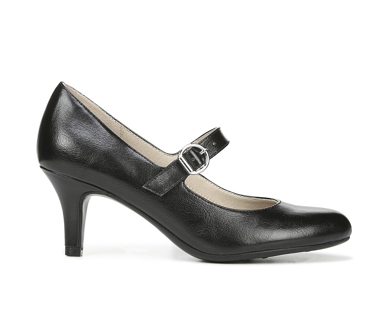 LifeStride Pandora Women's Dress Shoe (Black Faux Leather)