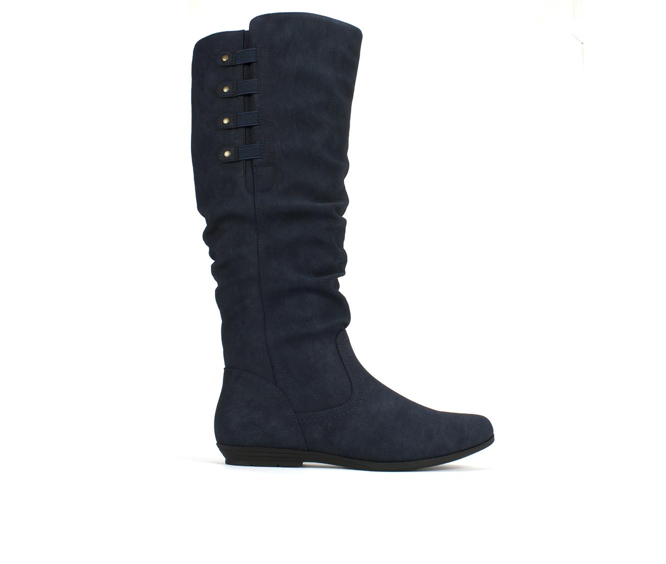 Cliffs Francie Women's Boot (Blue Faux Leather)