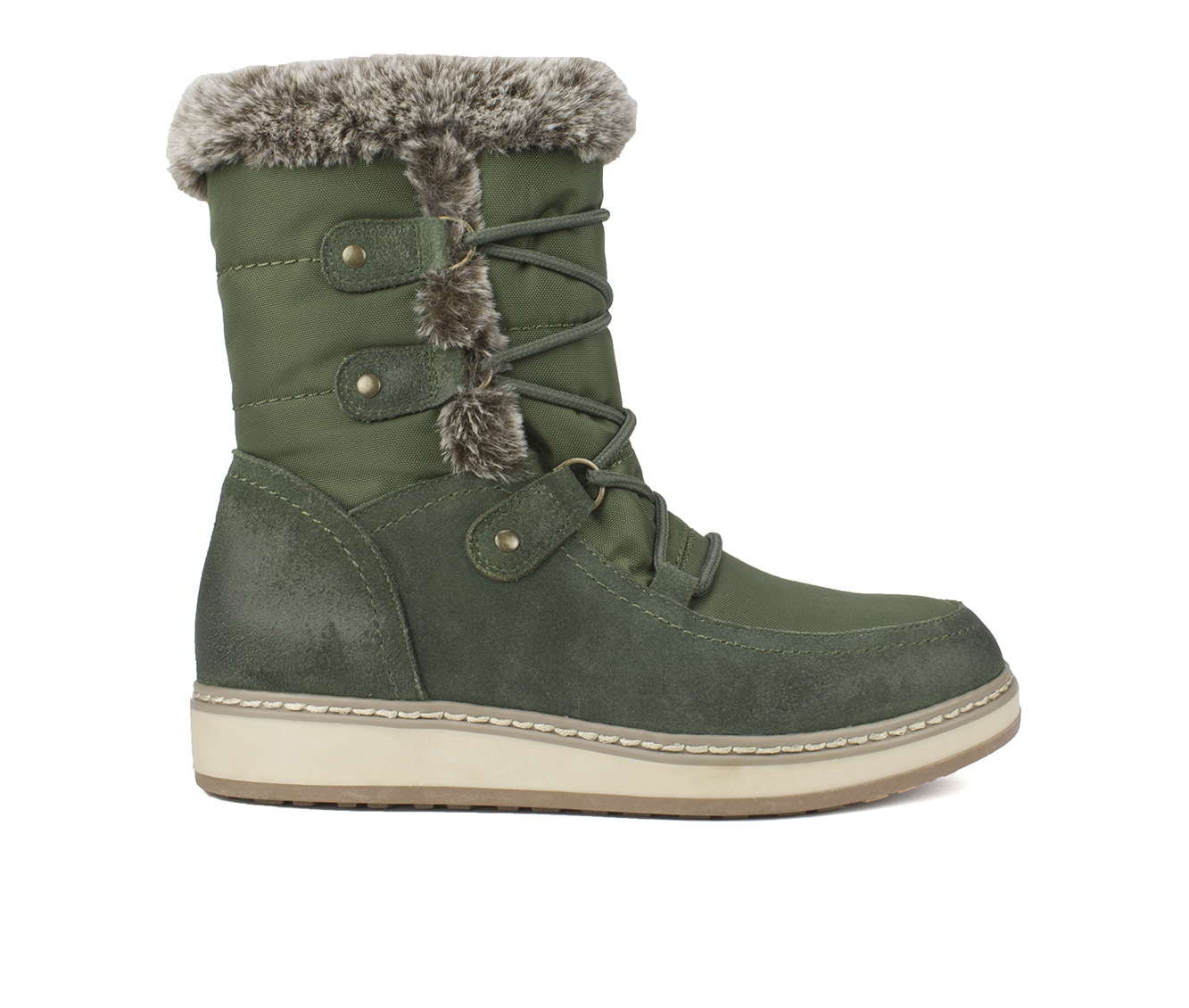 White Mountain Tansley Women's Boots (Green - Suede)