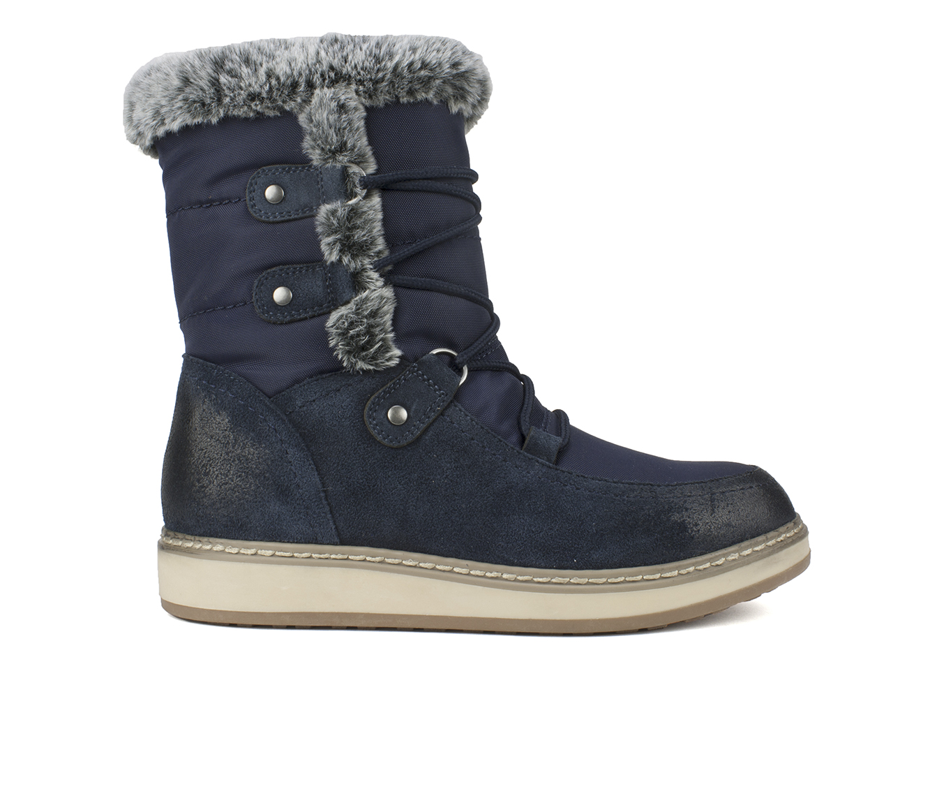 White Mountain Tansley Women's Boots (Blue - Suede)