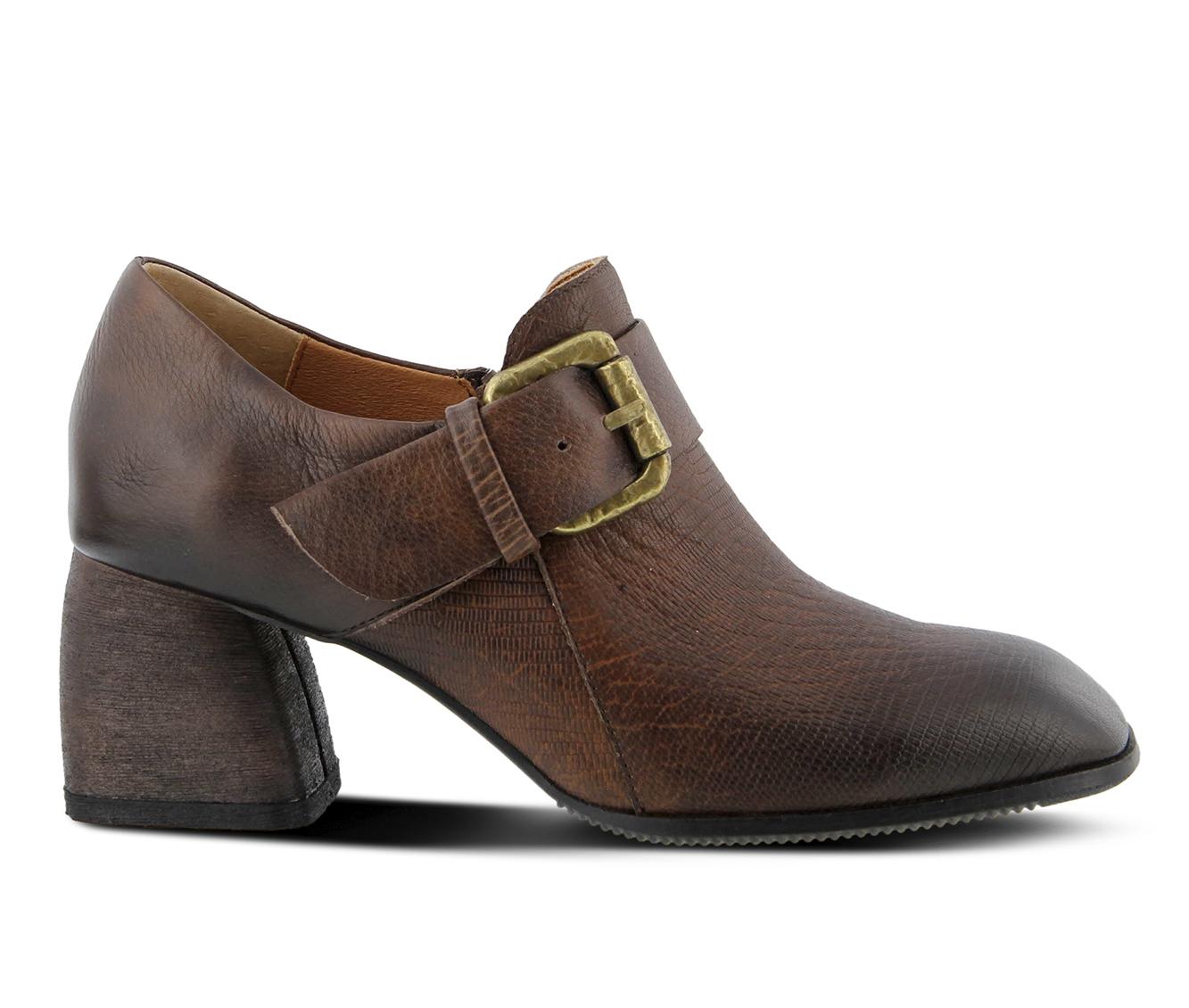 L'Artiste Mercedez Women's Dress Shoe (Brown Leather)
