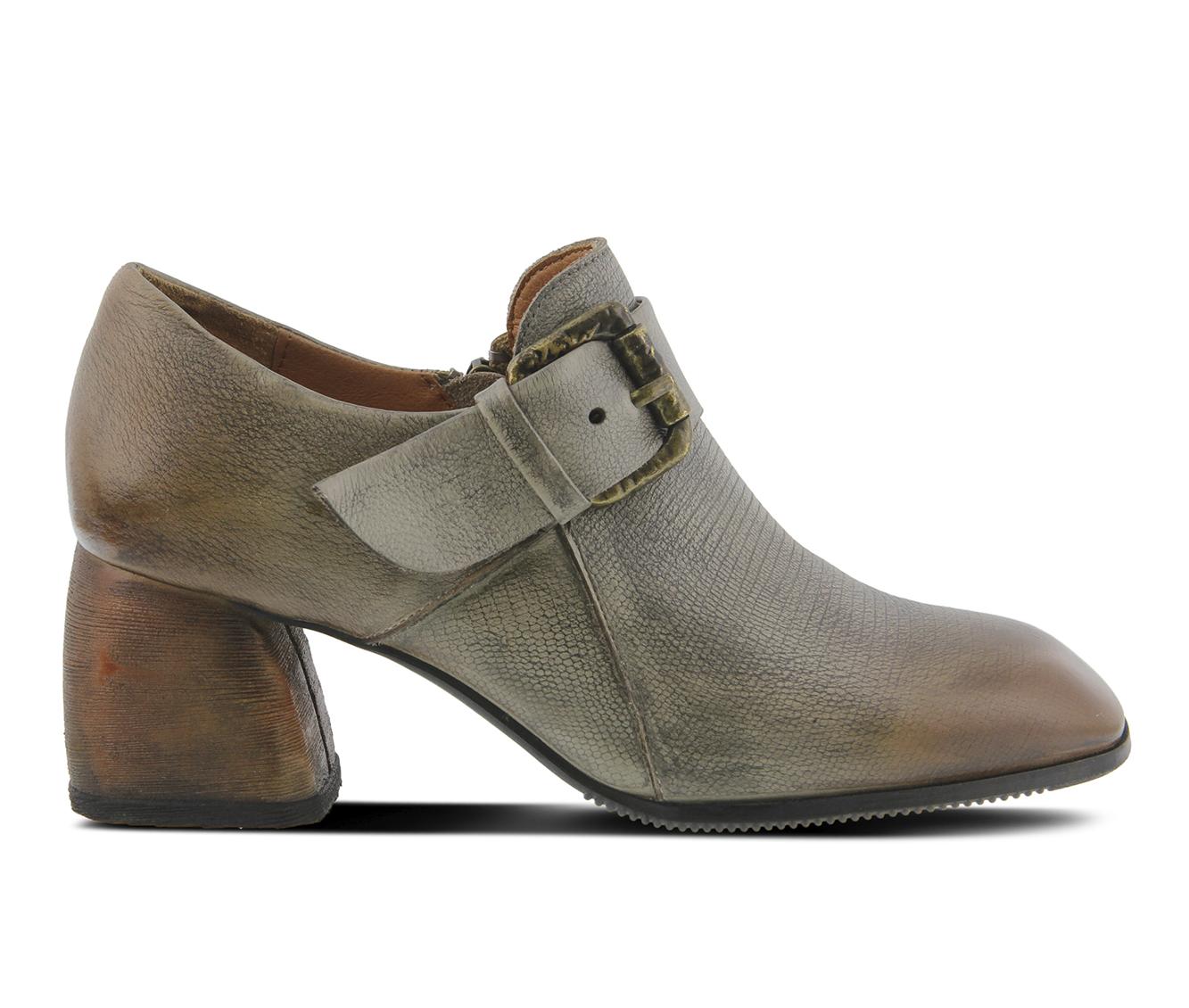 L'Artiste Mercedez Women's Dress Shoe (Gray Leather)