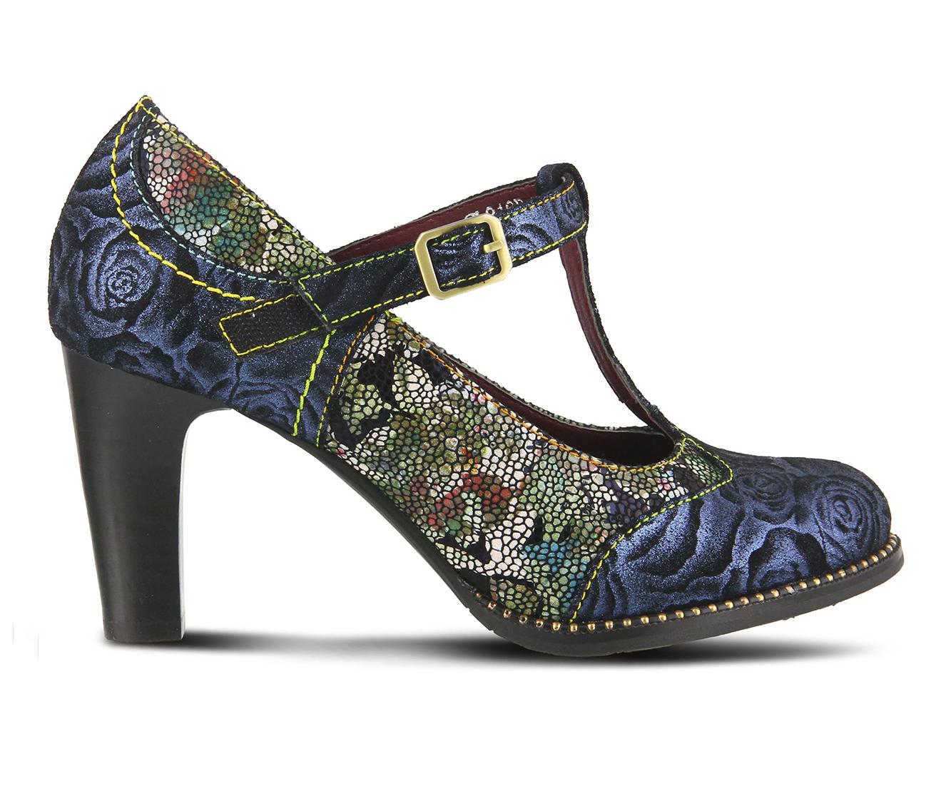 L'Artiste Mazie Women's Dress Shoe (Blue Leather)