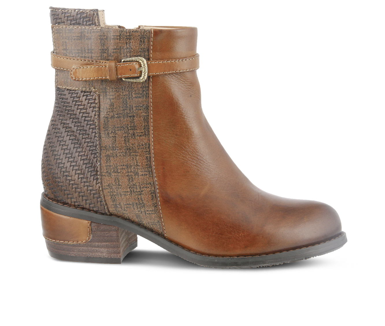 L'Artiste Kanessa Women's Boots (Brown Leather)