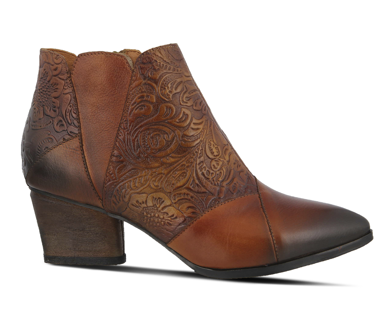 L'Artiste Melodie Women's Boots (Brown Leather)