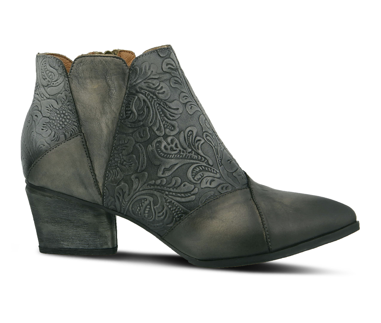 L'Artiste Melodie Women's Boots (Gray Leather)