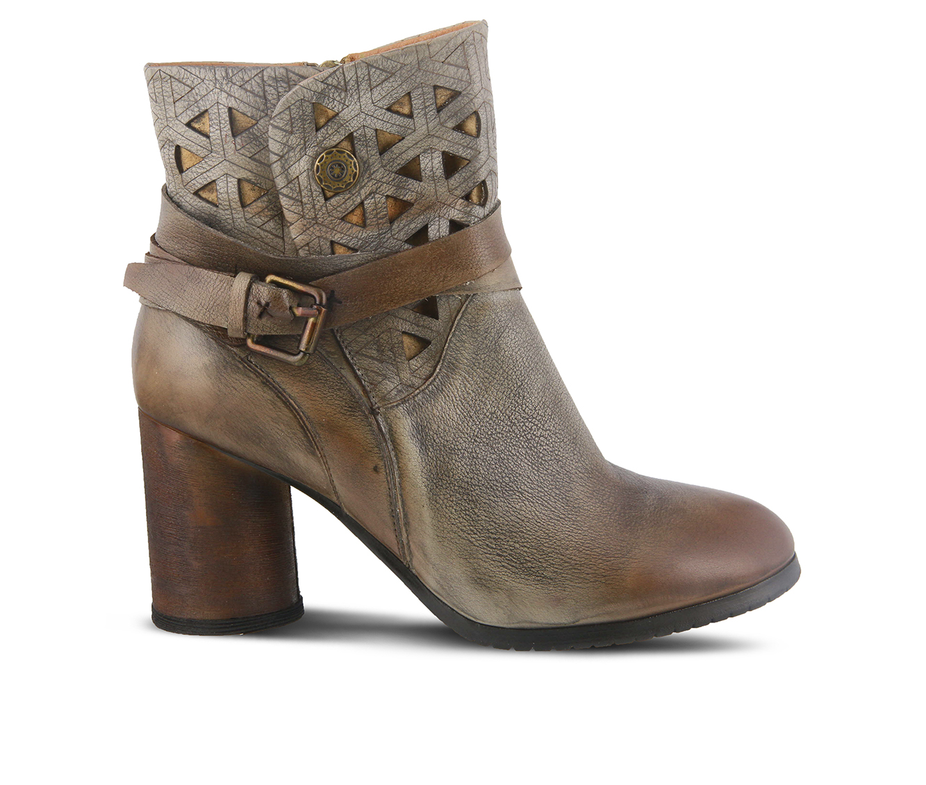 L'Artiste Madonna Women's Boots (Gray Leather)