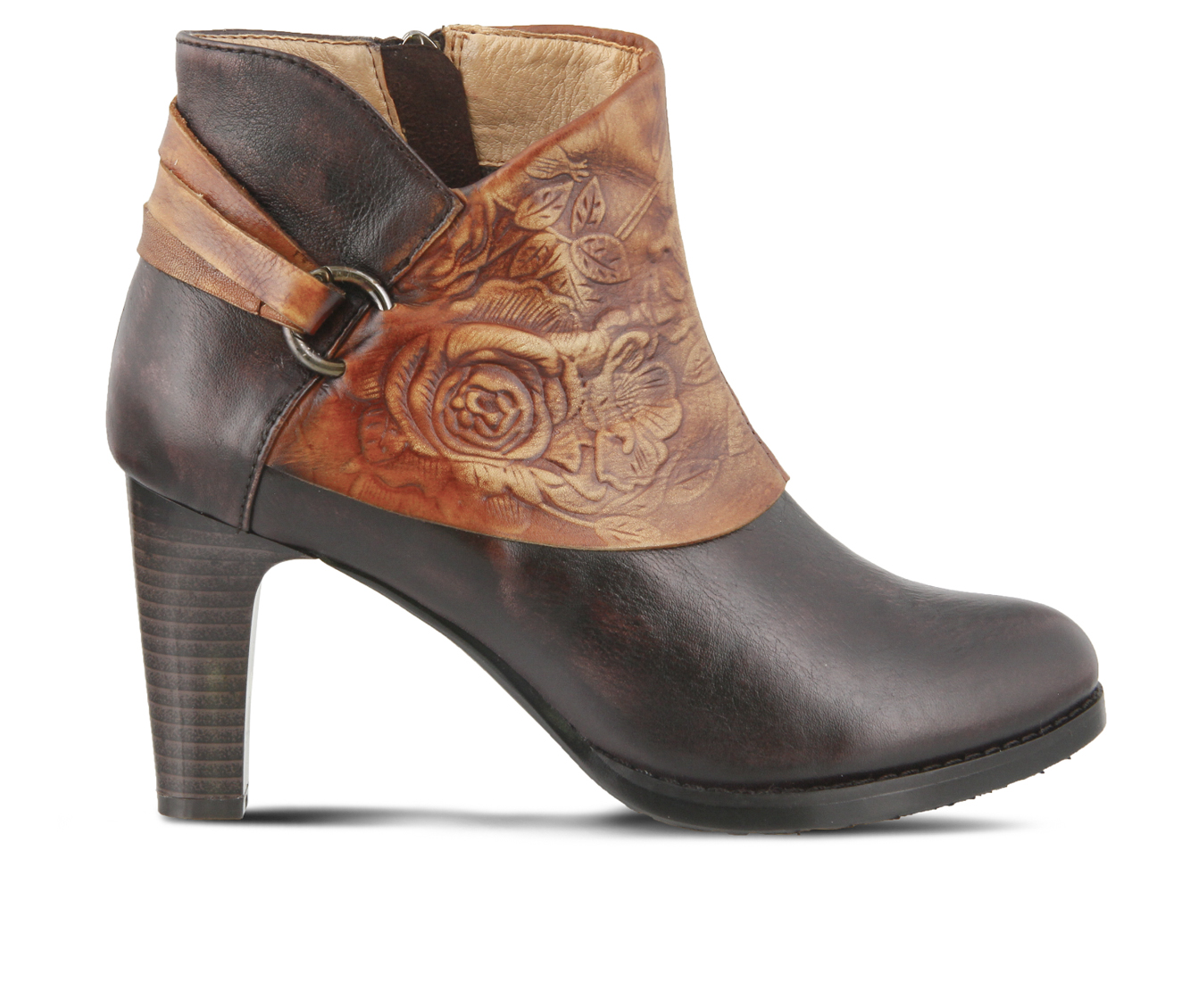 L'Artiste Lora Women's Boots (Brown Leather)