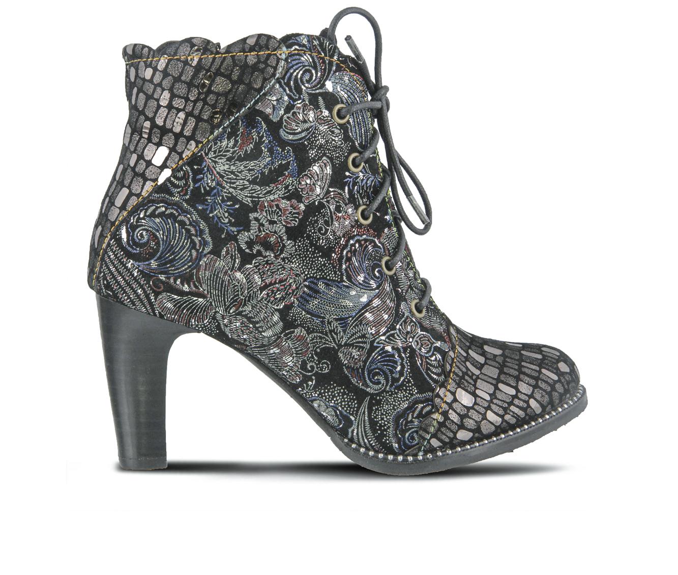 L'Artiste Glitterail Women's Boots (Silver Leather)