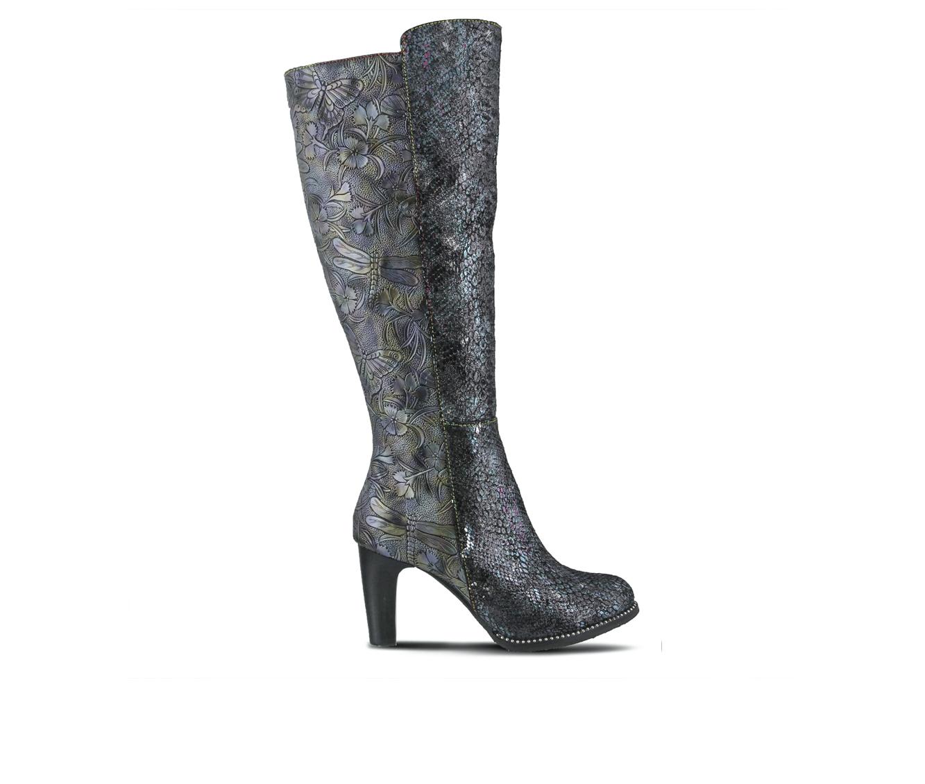 L'Artiste Gorjus Women's Boots (Blue Faux Leather)