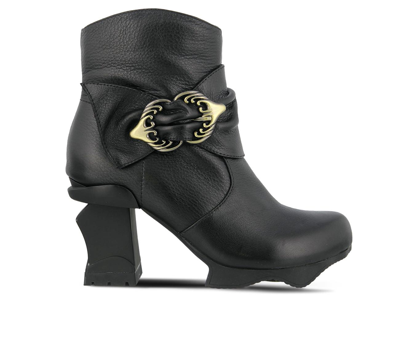 L'Artiste Natia Women's Boots (Black Leather)