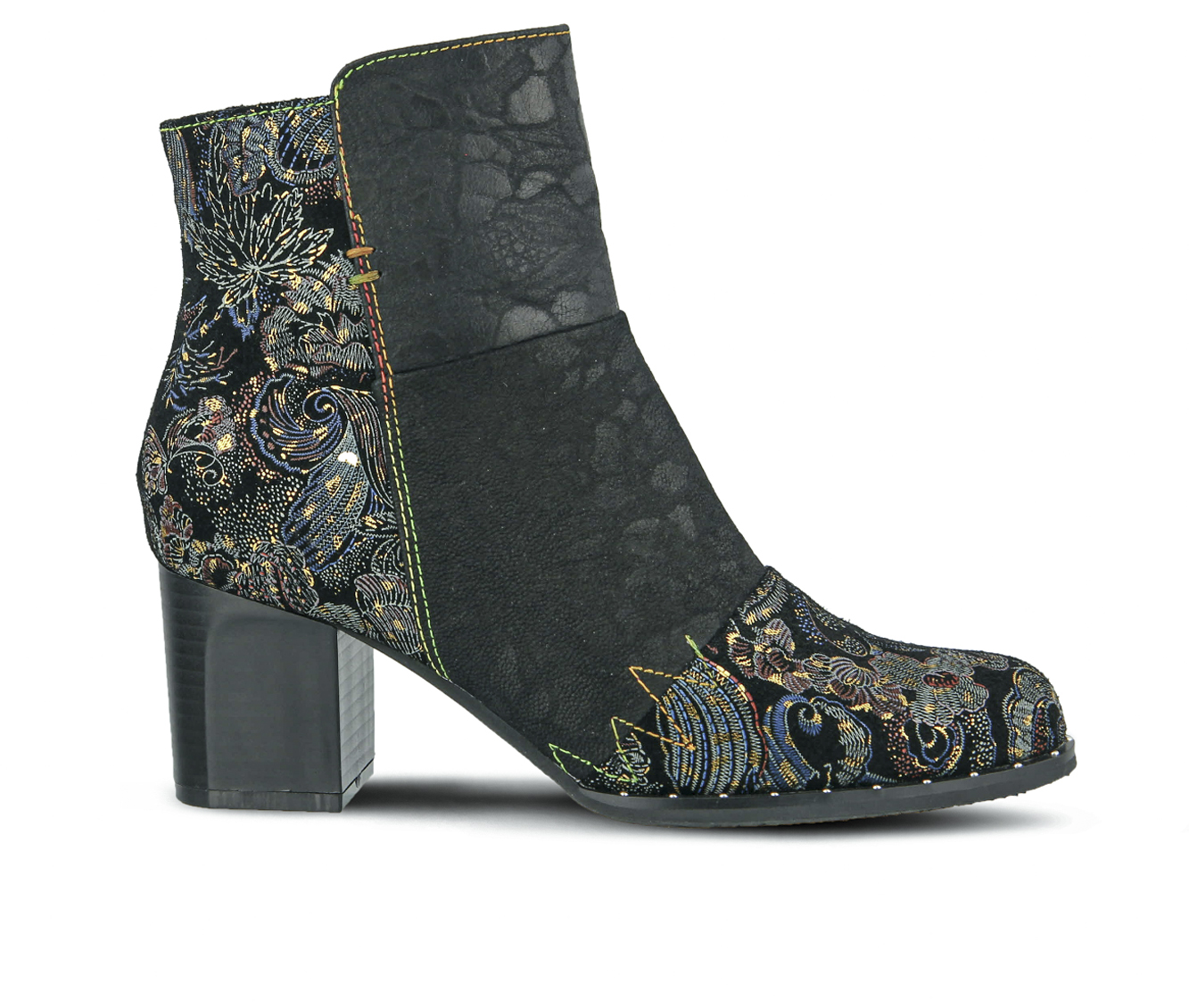 L'Artiste Jewells Women's Boots (Black Leather)