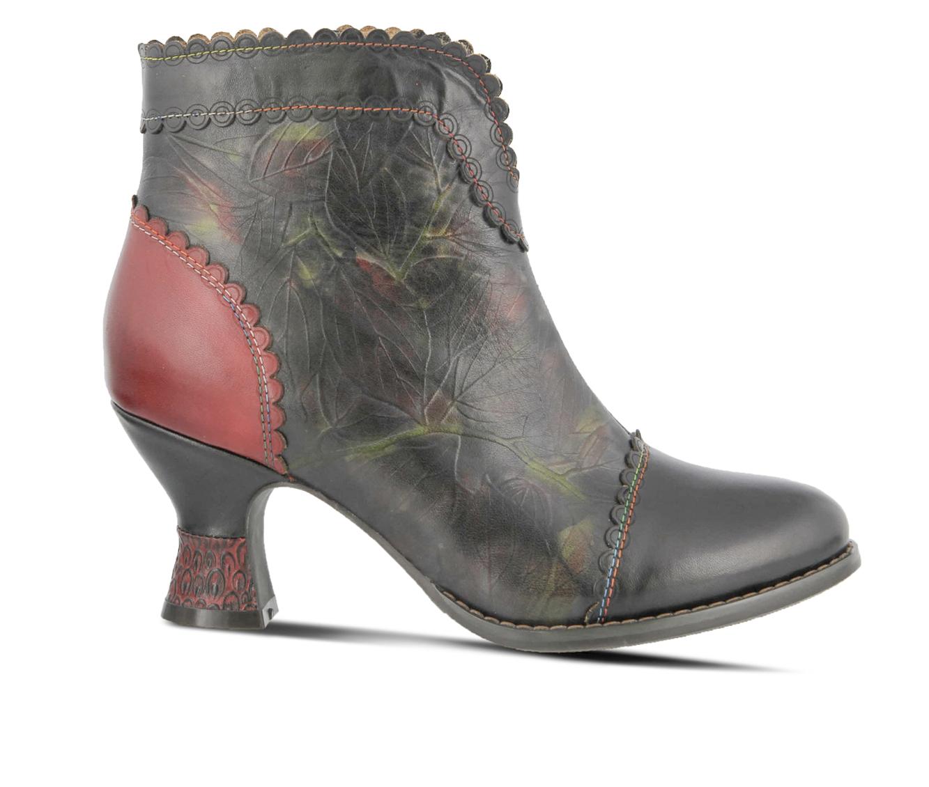 L'Artiste Leafeel Women's Boots (Black Leather)