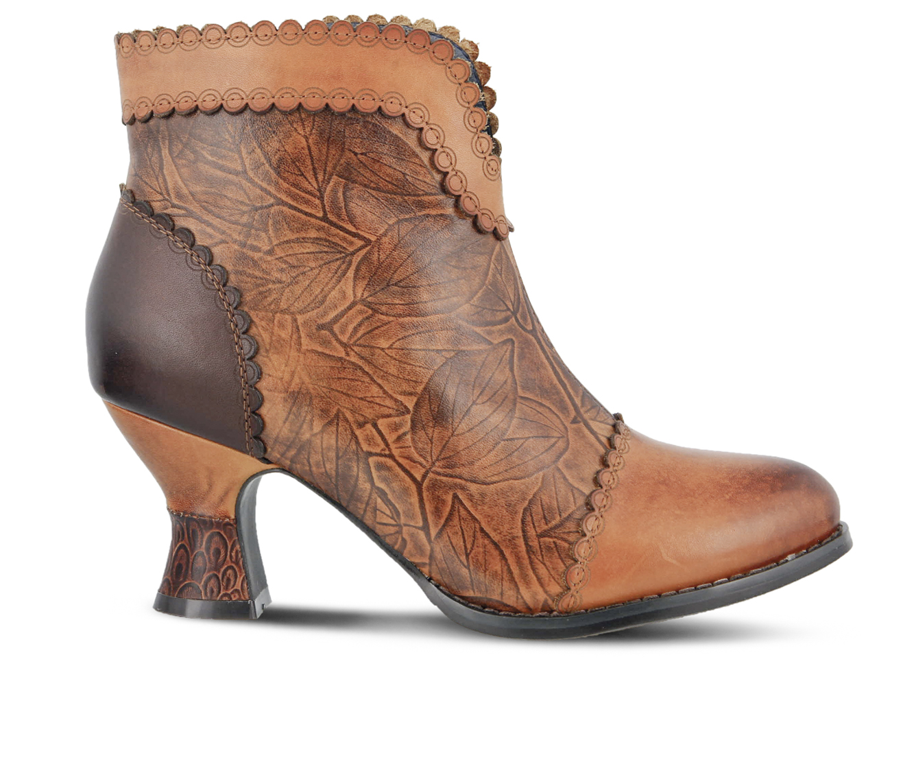 L'Artiste Leafeel Women's Boots (Brown Leather)