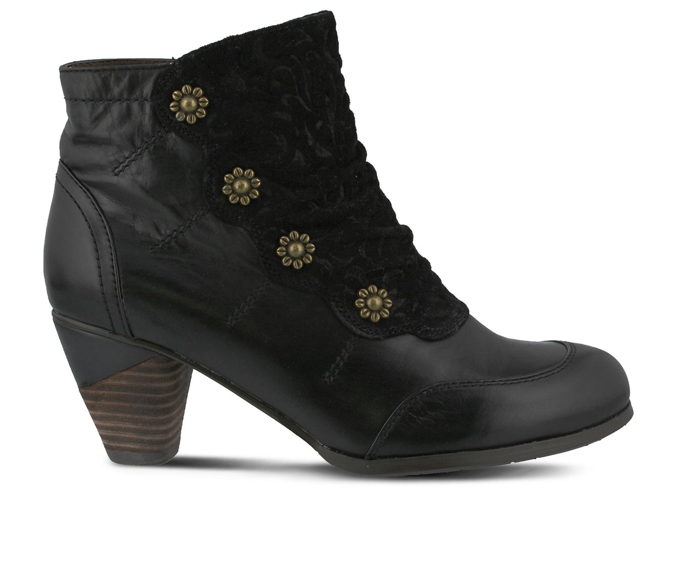 L'Artiste Belgard Women's Boots (Black Leather)