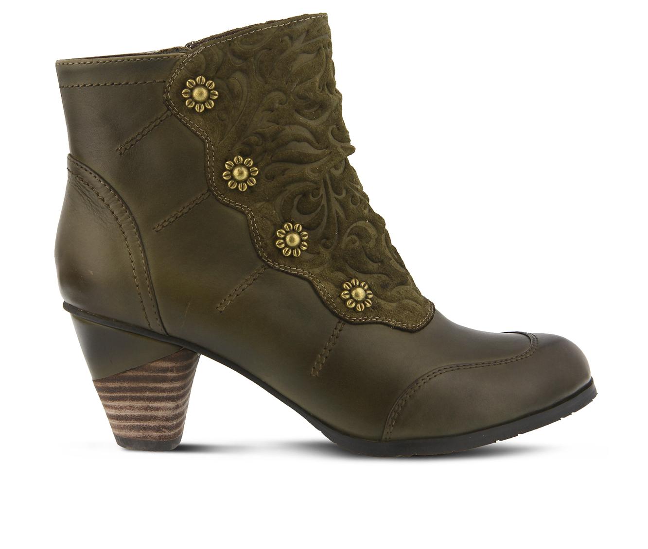 L'Artiste Belgard Women's Boots (Green Leather)