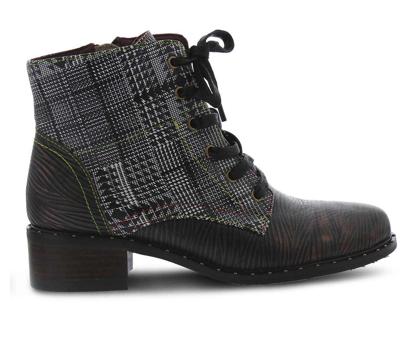 L'Artiste Mazoya Women's Boots (Black Leather)