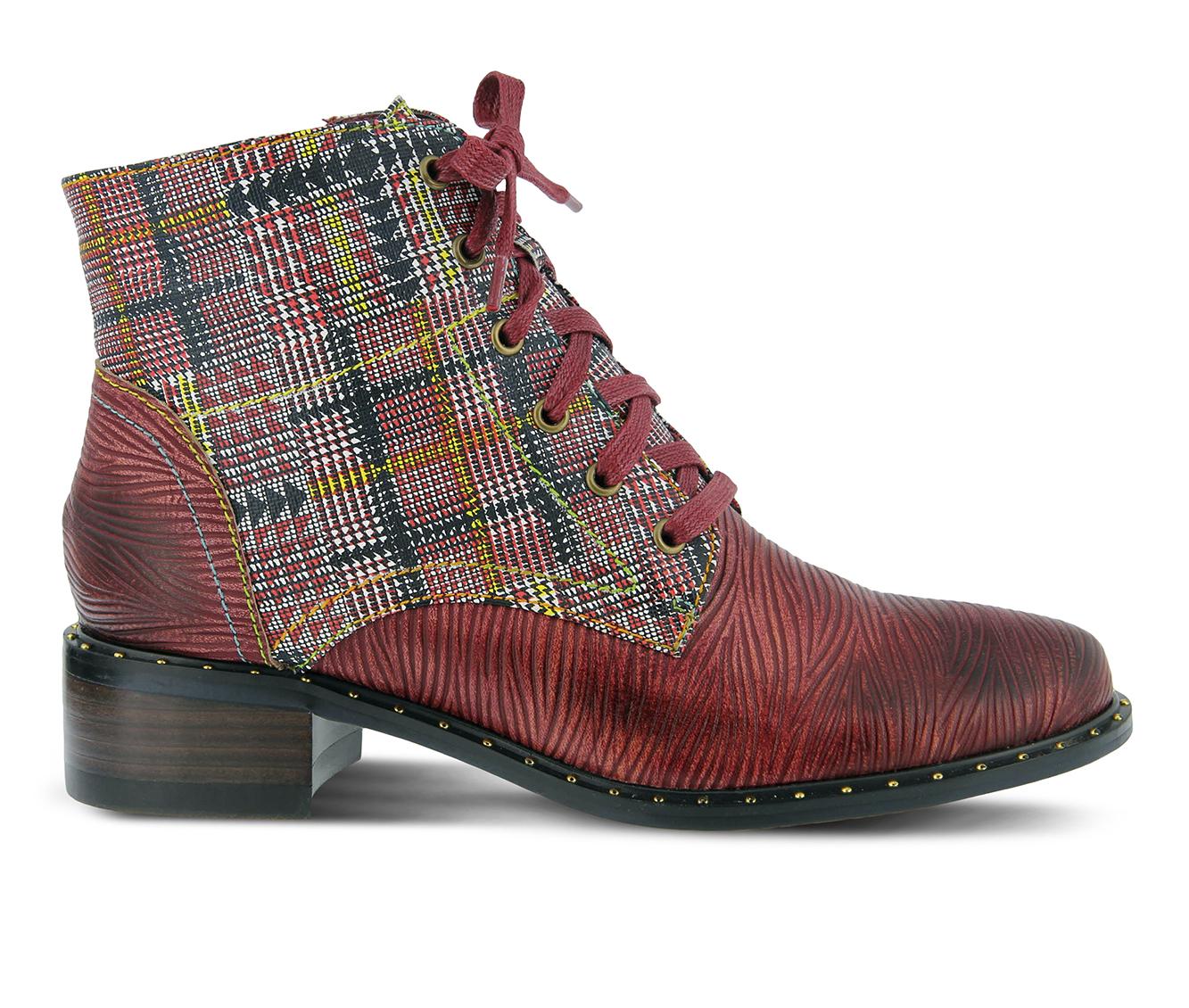 L'Artiste Mazoya Women's Boots (Red Leather)