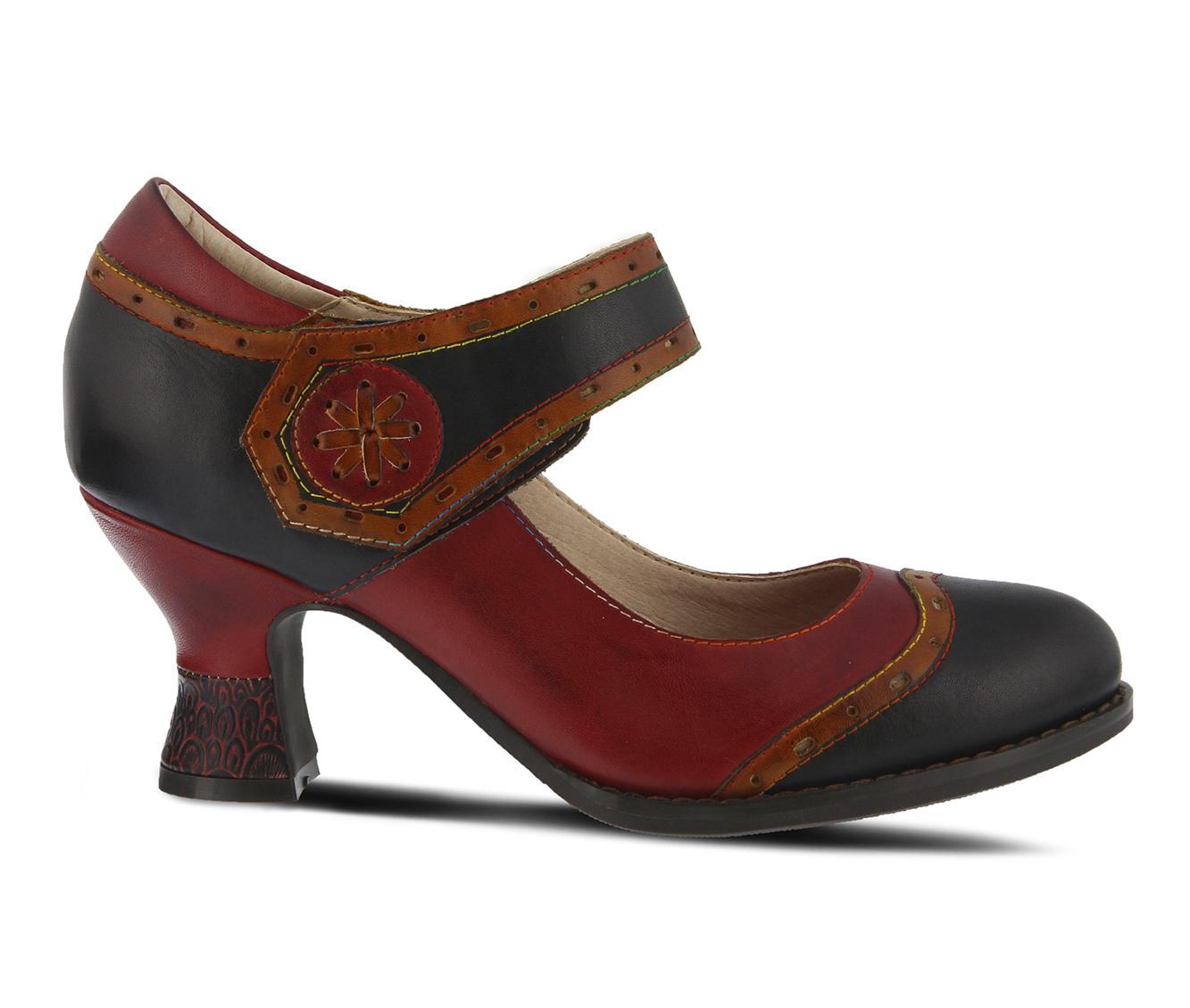 L'Artiste Maryellen Women's Dress Shoe (Black Leather)