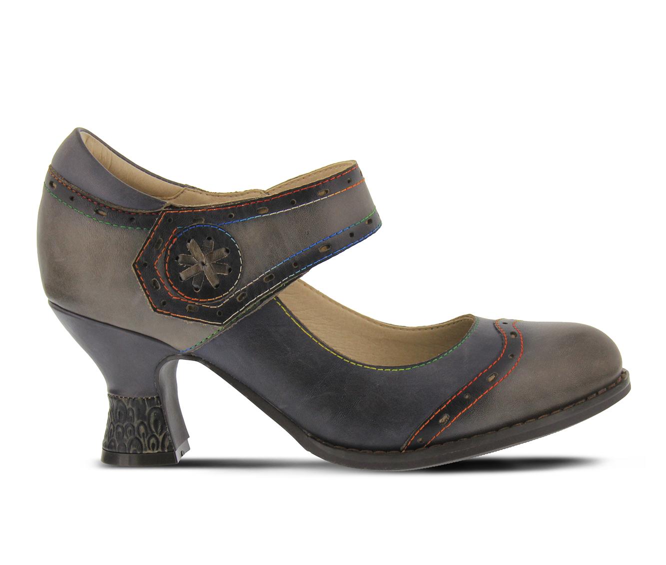 L'Artiste Maryellen Women's Dress Shoe (Gray Leather)