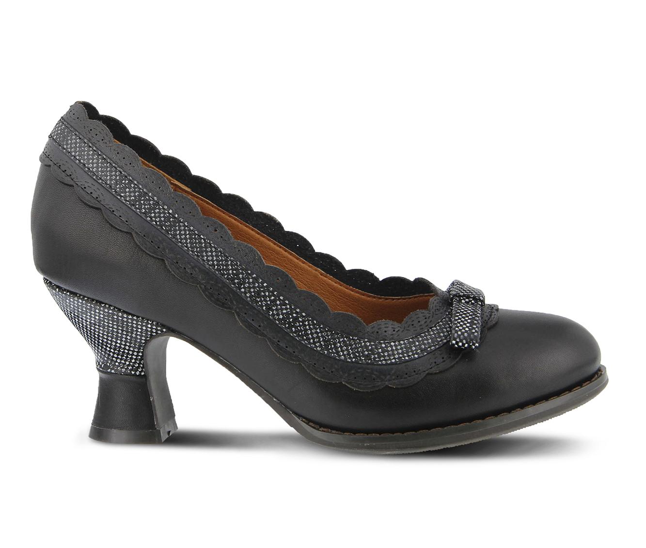L'Artiste Kirstie Women's Dress Shoe (Black Leather)