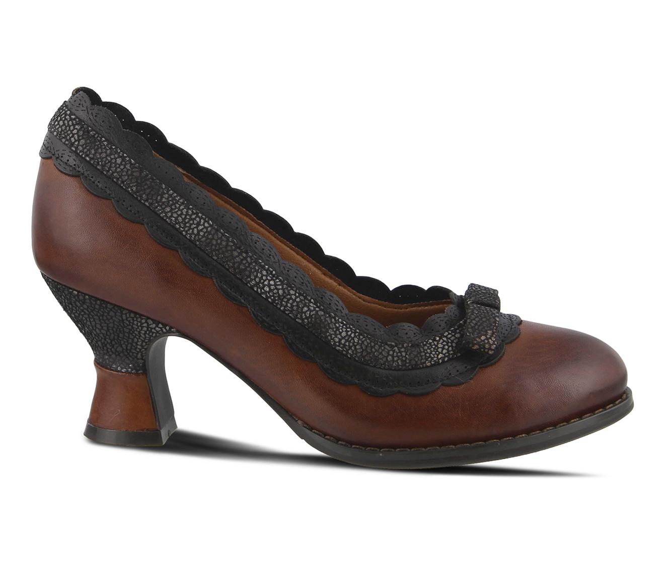 L'Artiste Kirstie Women's Dress Shoe (Brown Leather)