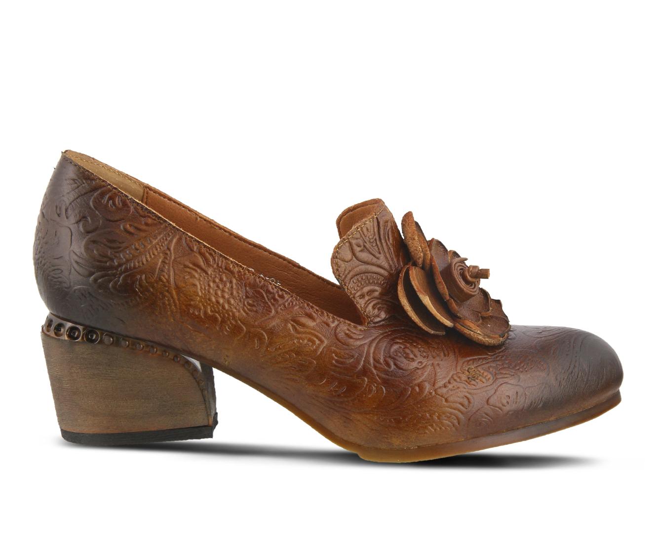 L'Artiste Noora Women's Dress Shoe (Brown Leather)
