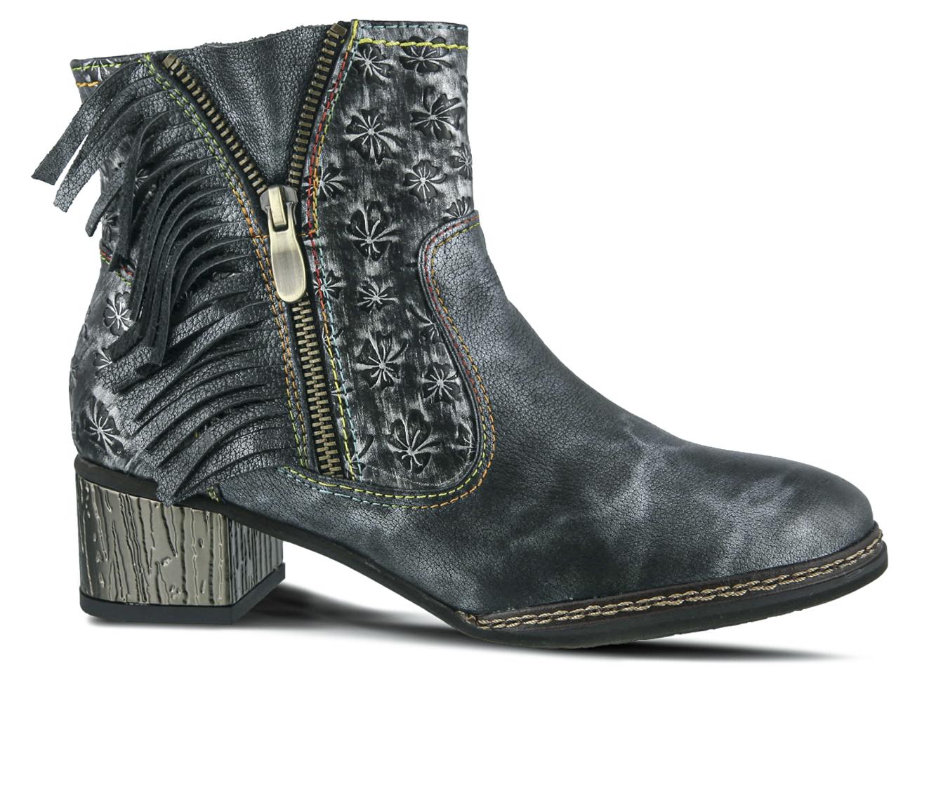 L'Artiste Kami Women's Boots (Blue Leather)