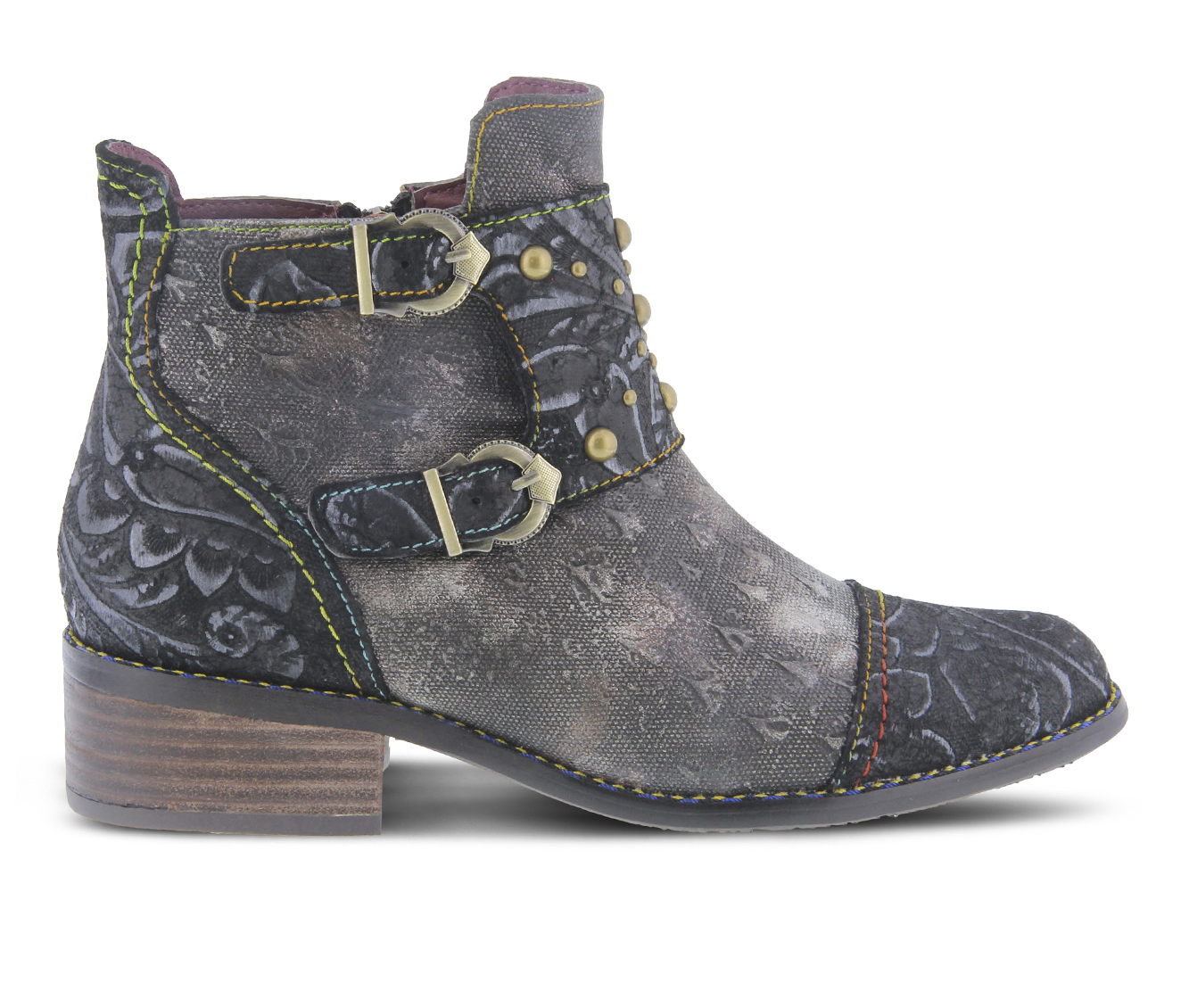 L'Artiste Nailhead Women's Boots (Black Leather)