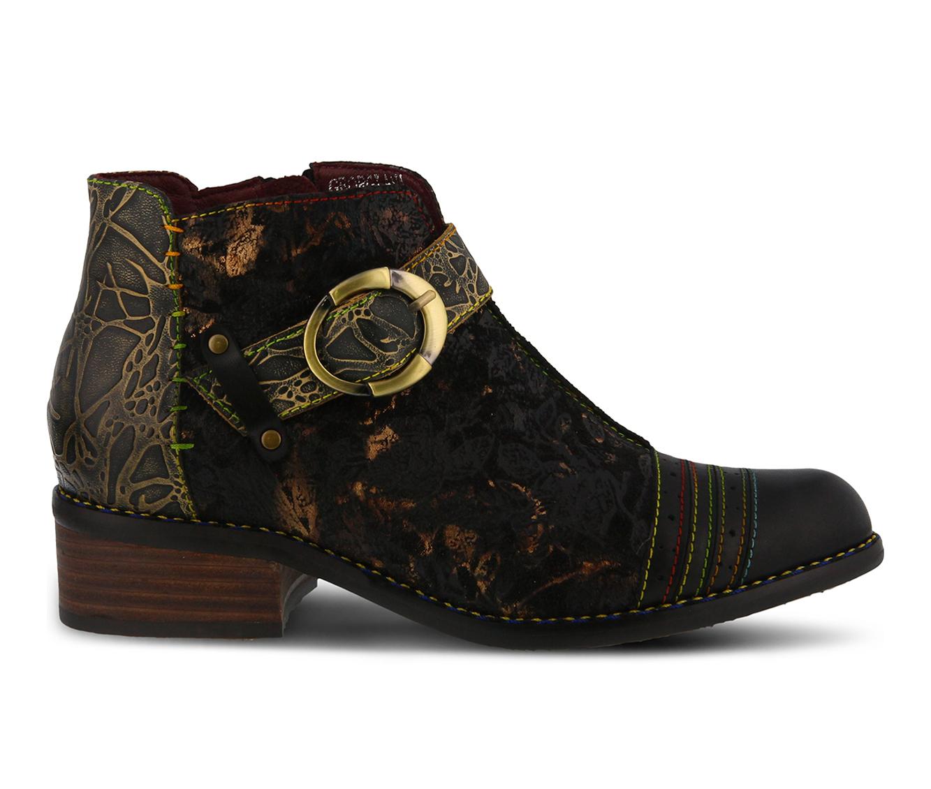 L'Artiste Georgiana Women's Boots (Black Leather)