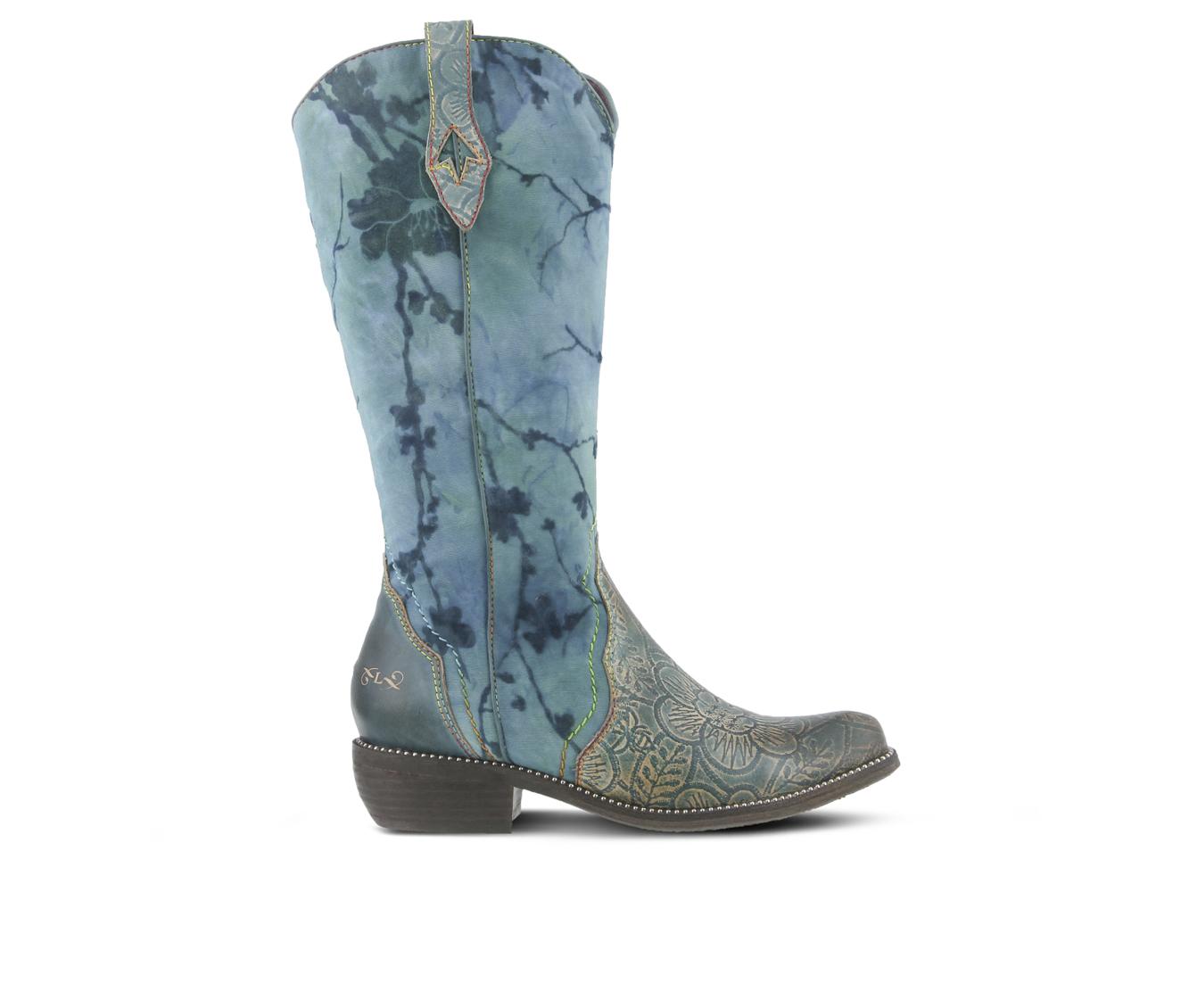 L'Artiste Laretilyn Women's Boots (Blue Leather)