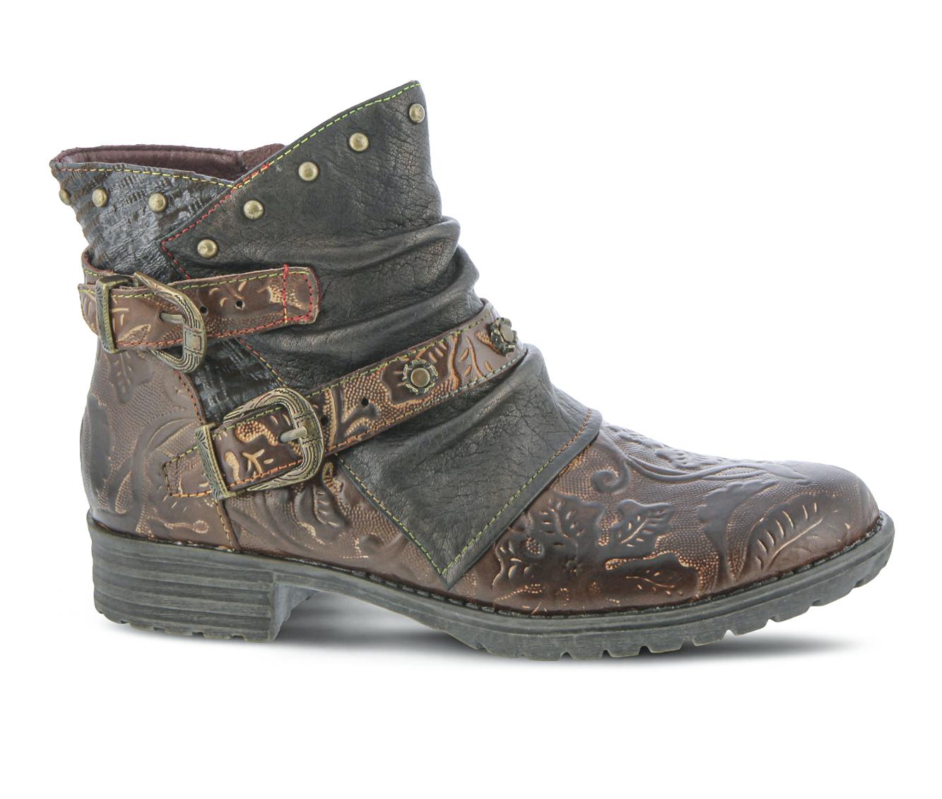 L'Artiste Claudine Women's Boots (Black Leather)