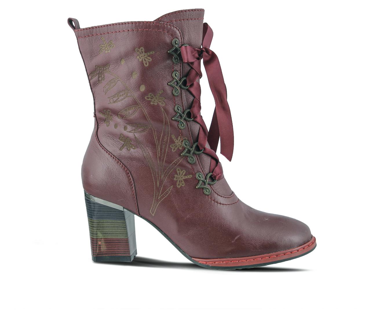 L'Artiste Juliette Women's Boots (Black Leather)