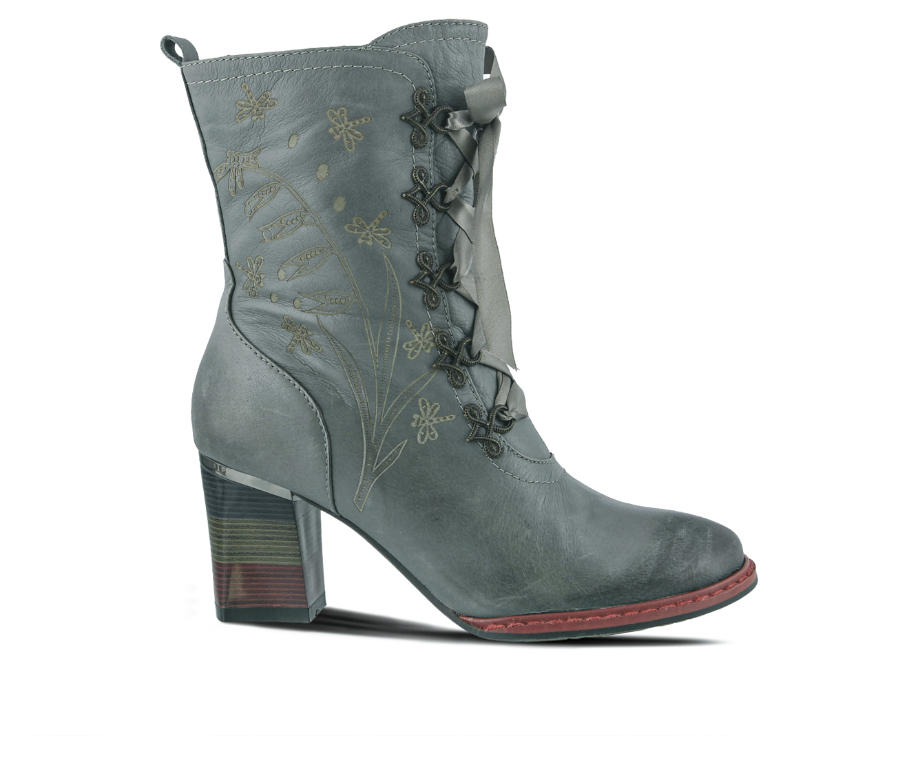 L'Artiste Juliette Women's Boots (Gray Leather)