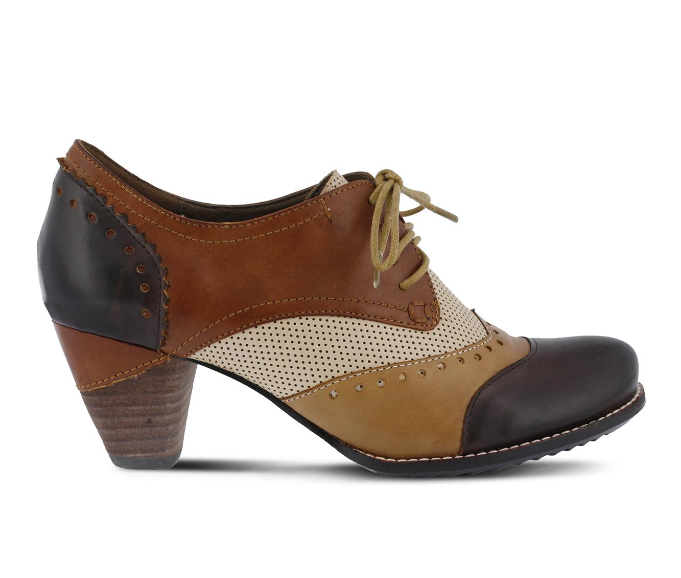 L'Artiste Bardot Women's Dress Shoe (Brown Leather)