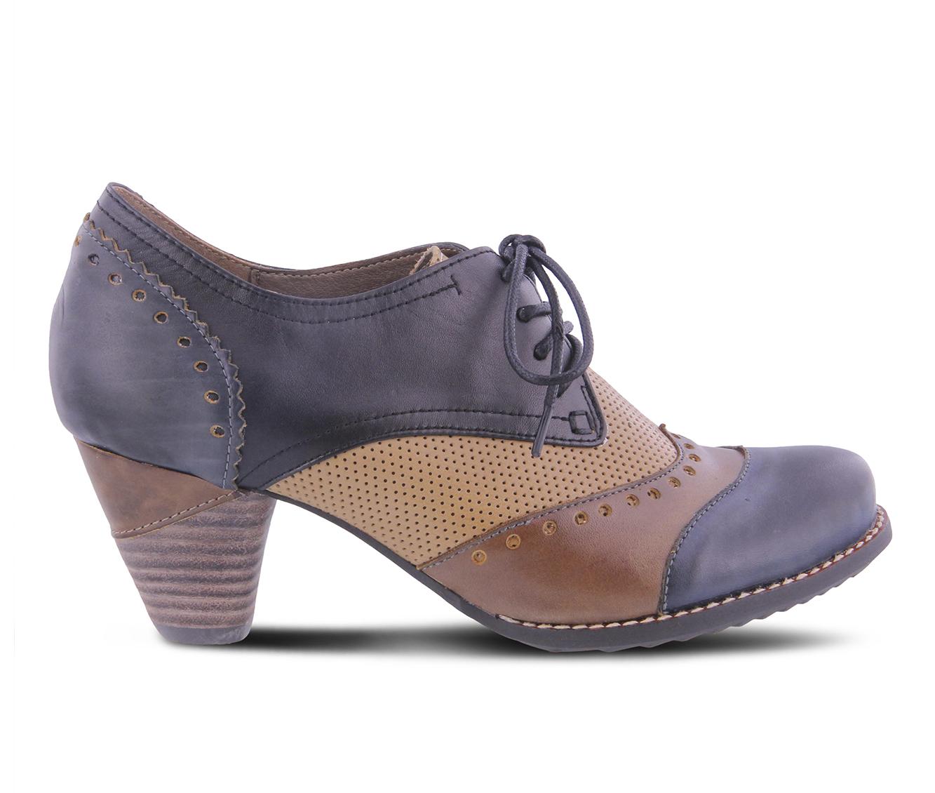 L'Artiste Bardot Women's Dress Shoe (Blue Leather)