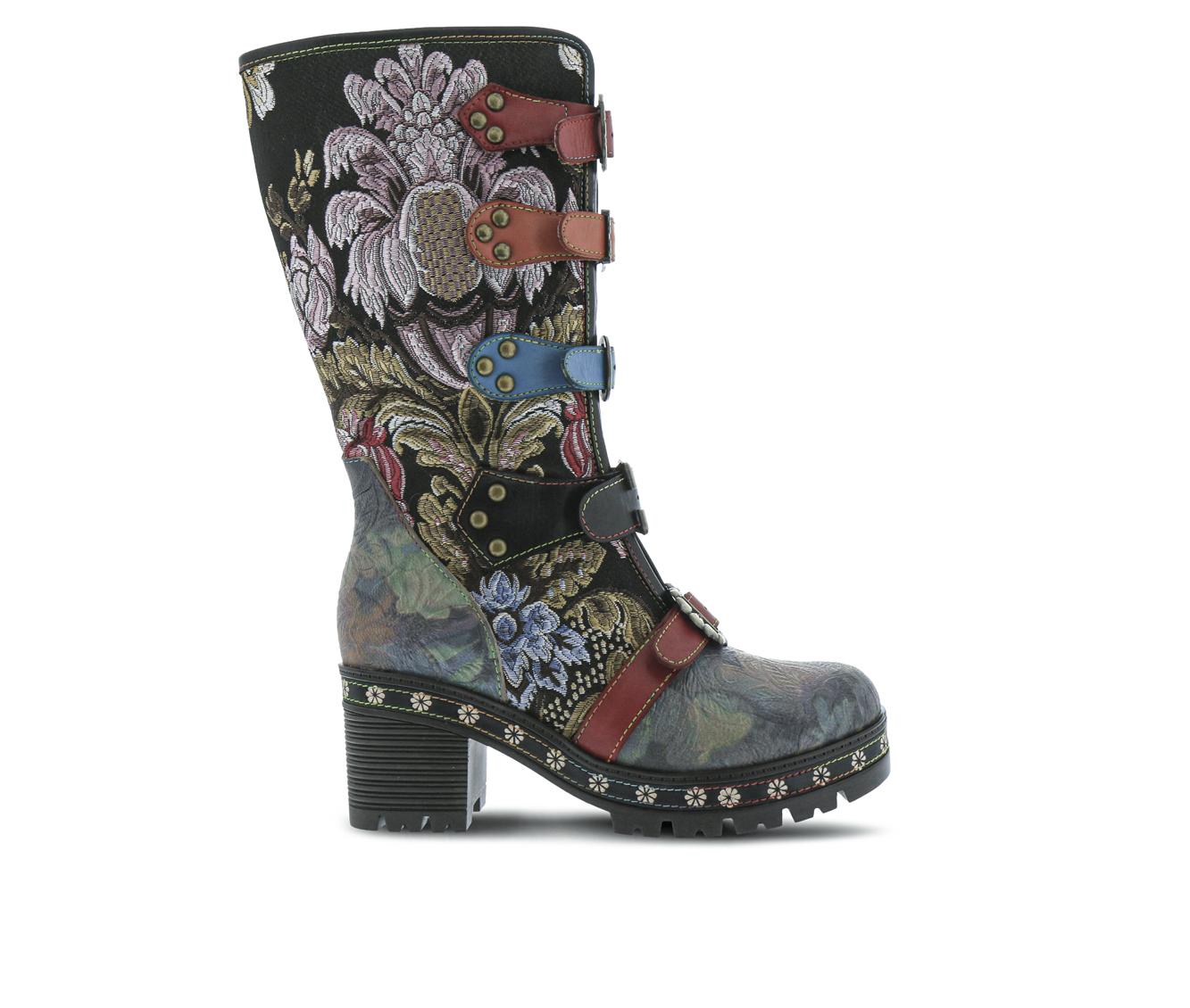 L'Artiste Brazen Women's Boots (Black Leather)