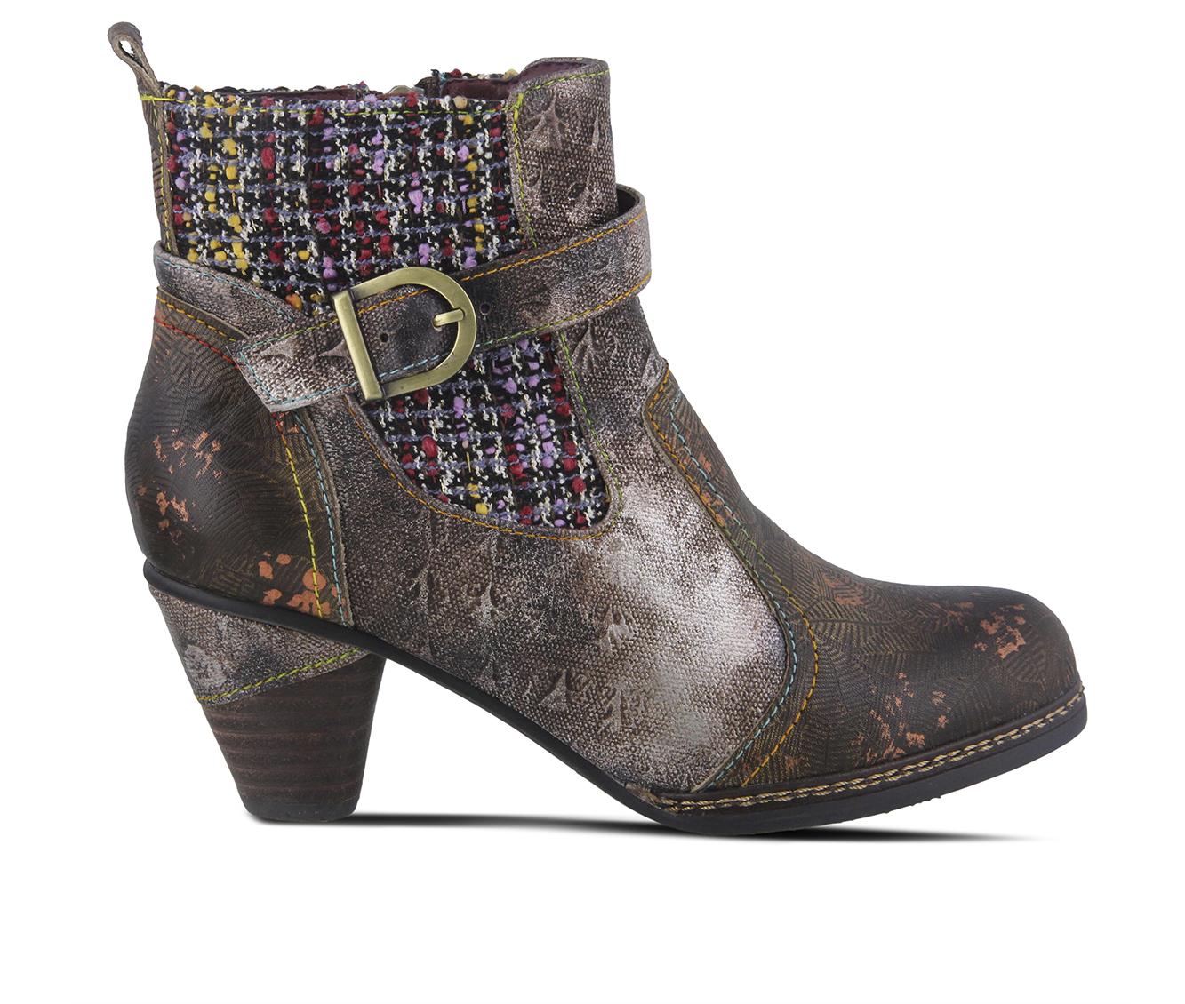 L'Artiste Nancies Women's Boots (Green Leather)