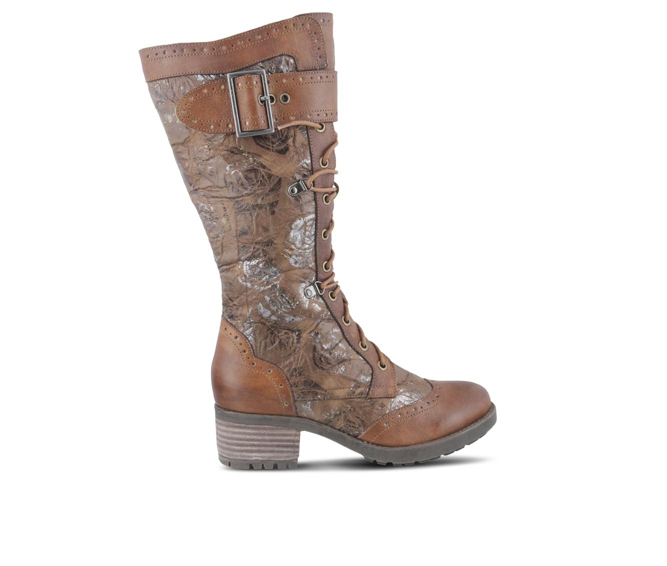 L'Artiste Kisha Women's Boots (Brown Leather)