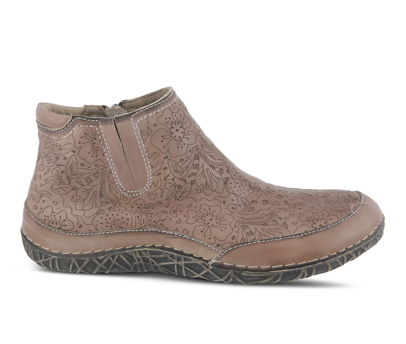 L'Artiste Libootie Women's Boots (Beige Leather)