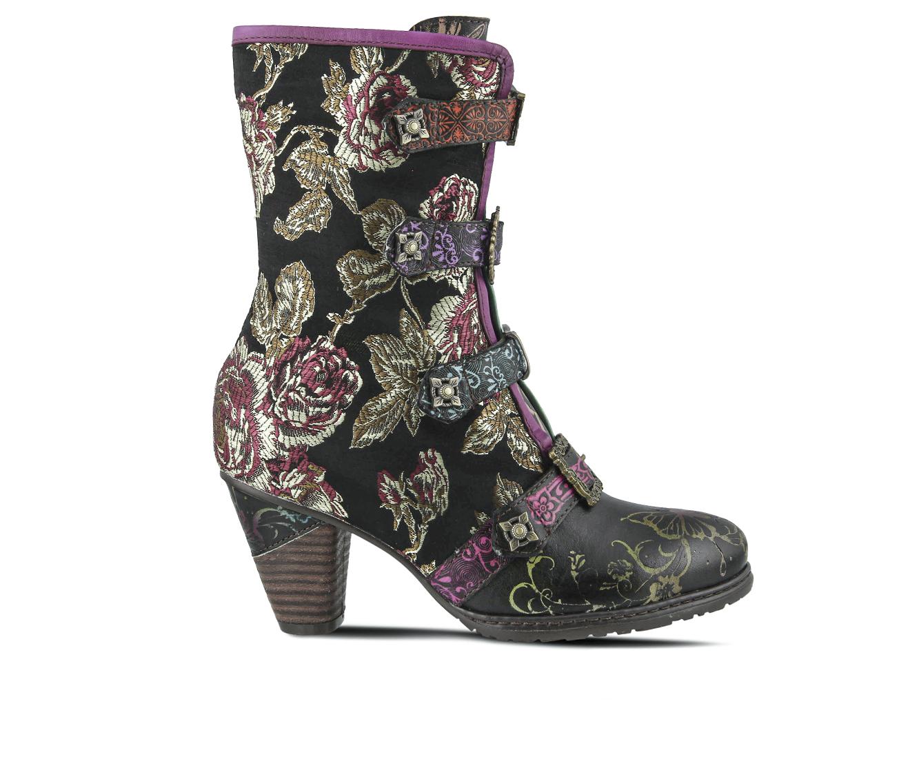 L'Artiste Chixxiela Women's Boots (Black Leather)