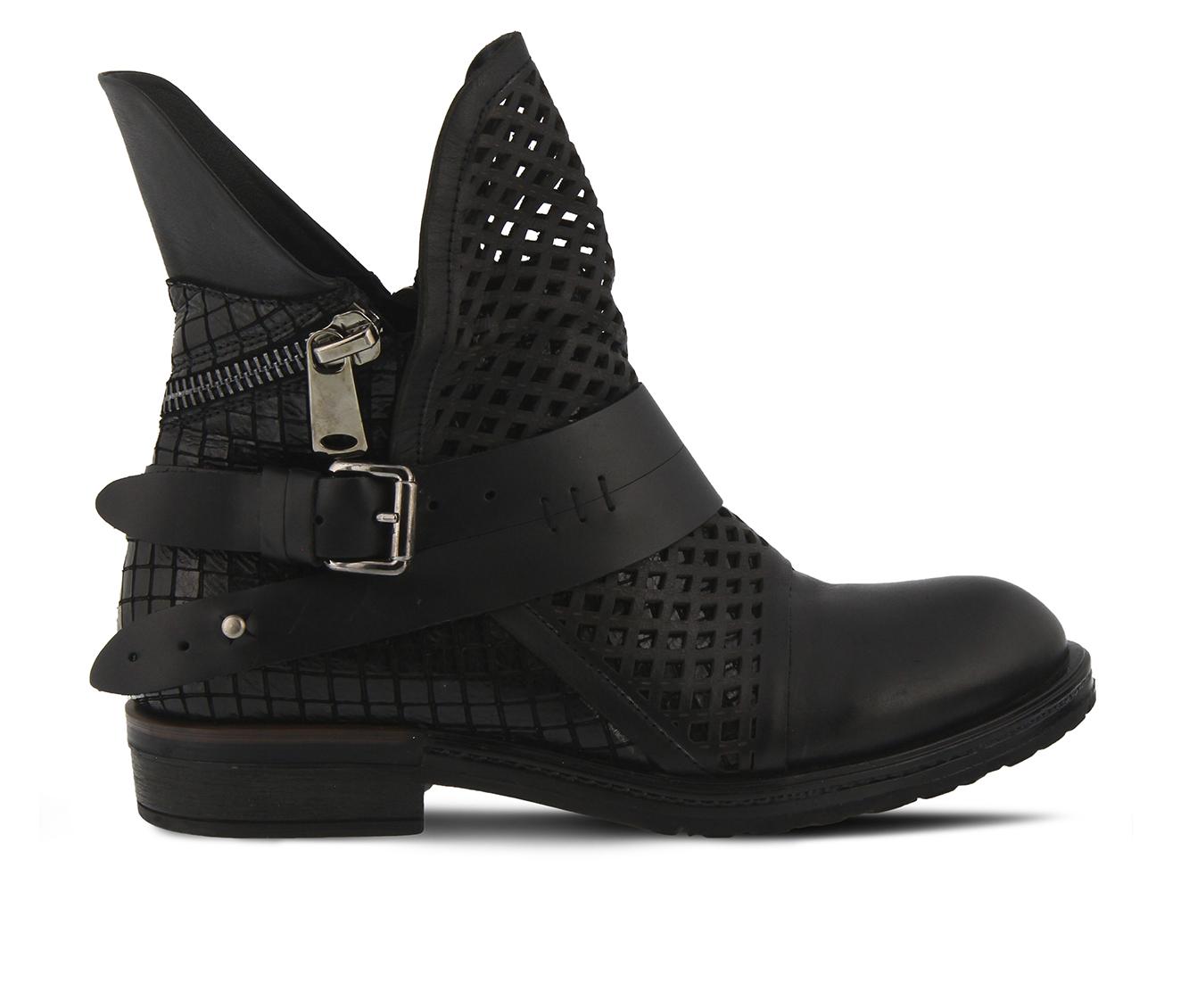 SPRING STEP Gavotta Women's Boots (Black Leather)
