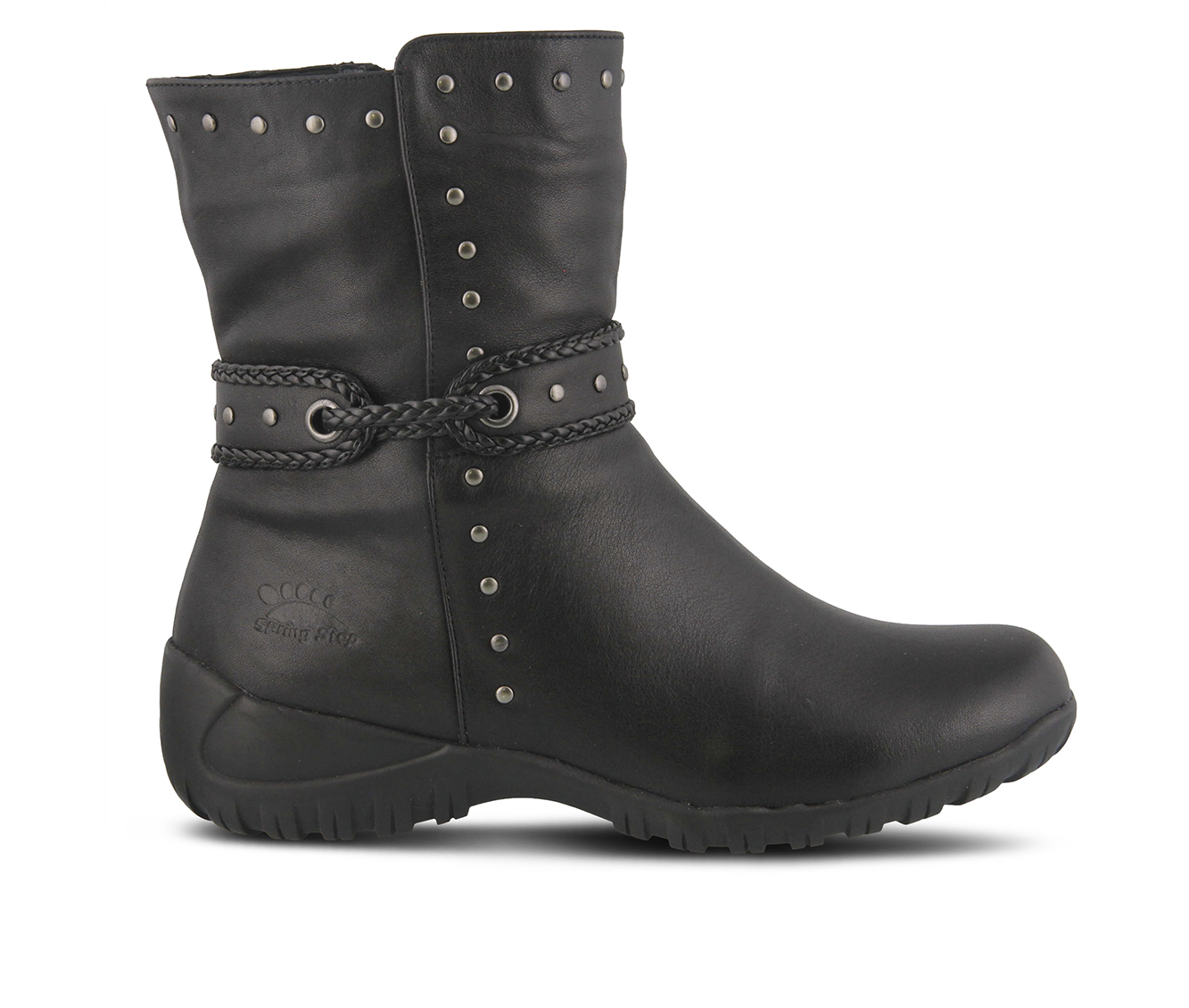 SPRING STEP Vermont Women's Boots (Black Leather)
