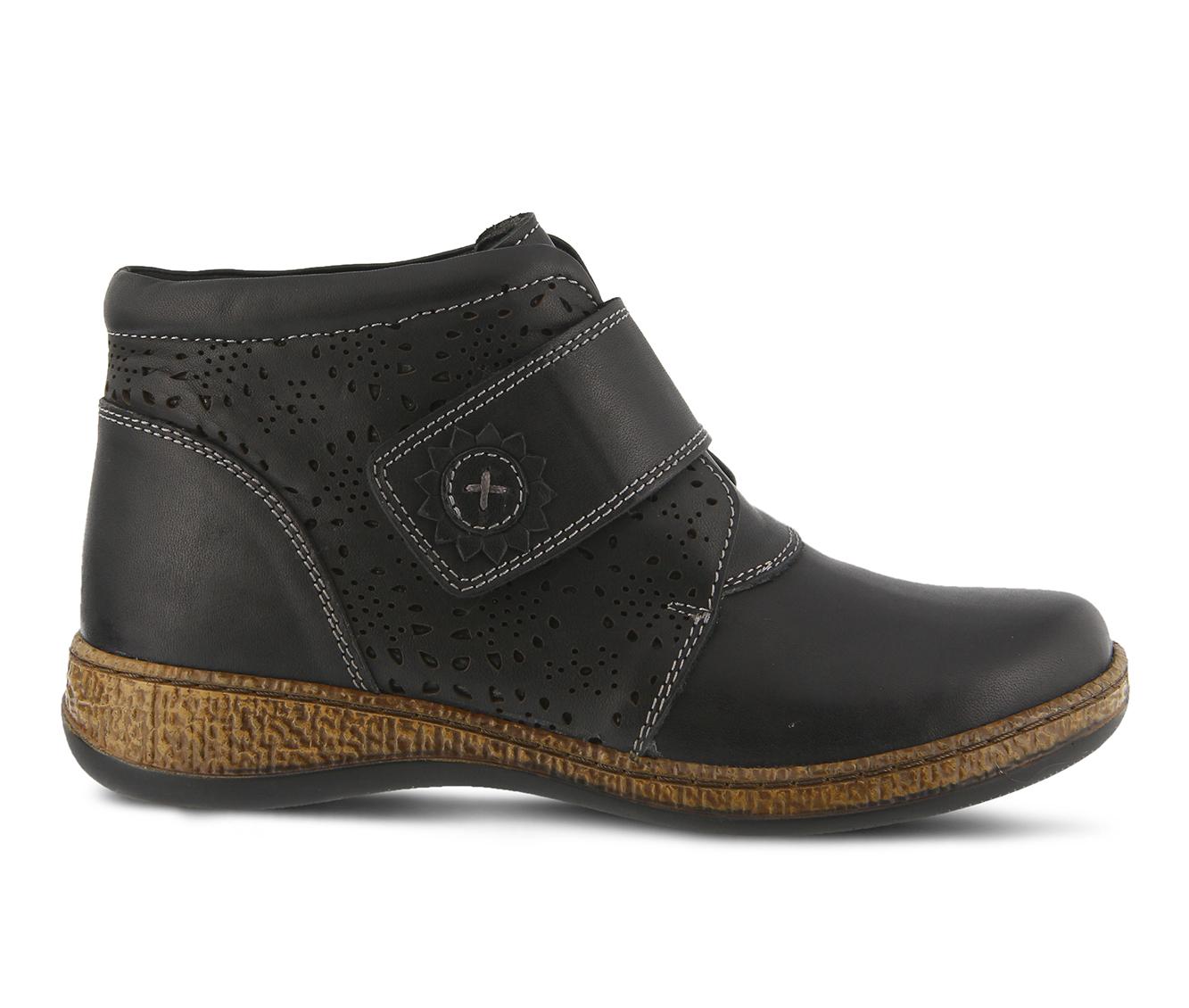 SPRING STEP Souzala Women's Boots (Black Leather)