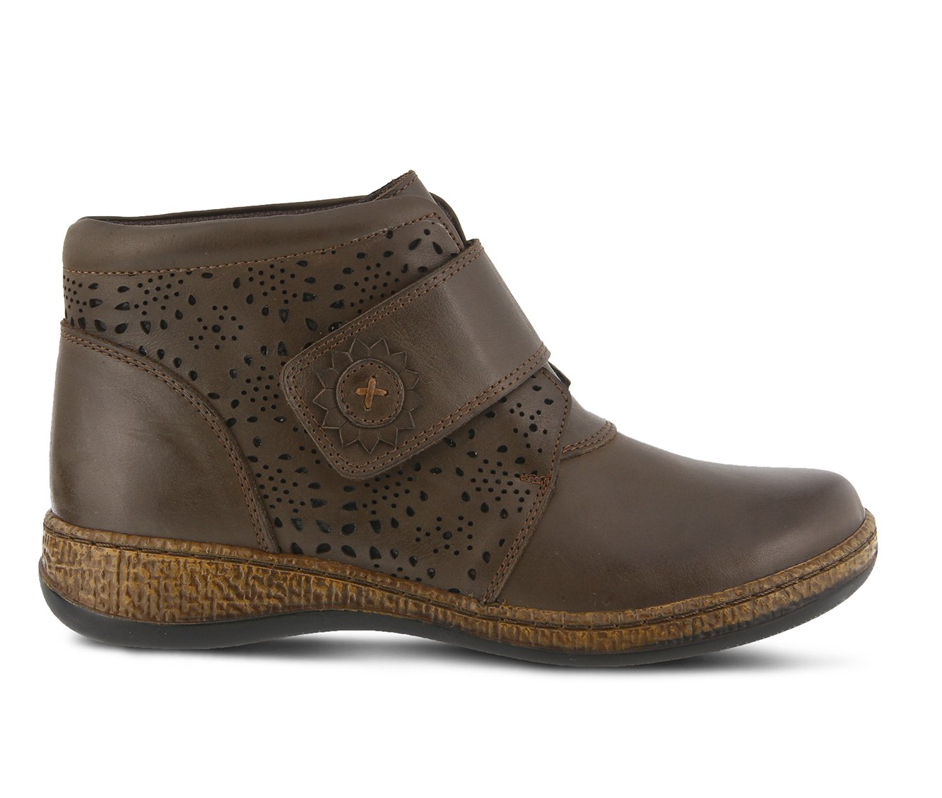 SPRING STEP Souzala Women's Boots (Brown Leather)