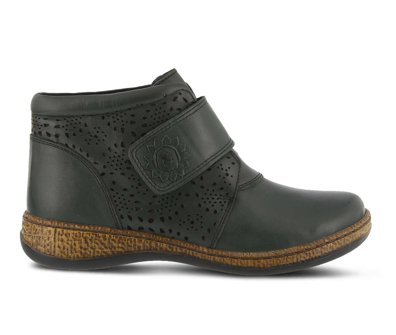 SPRING STEP Souzala Women's Boots (Green Leather)
