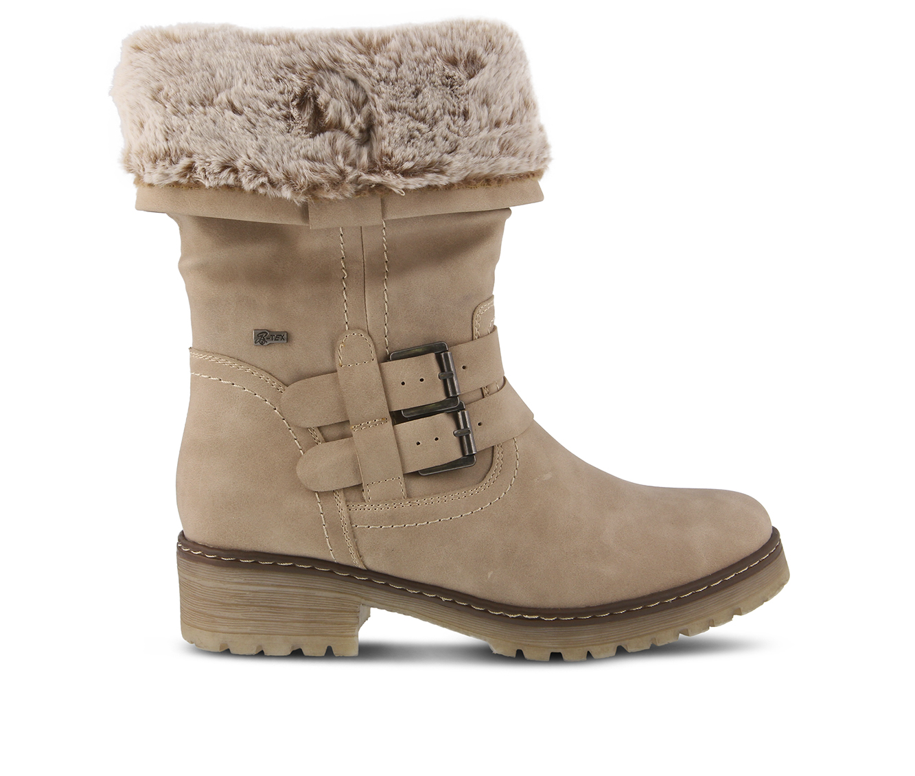 SPRING STEP Comatulla Women's Boots (Beige Faux Leather)